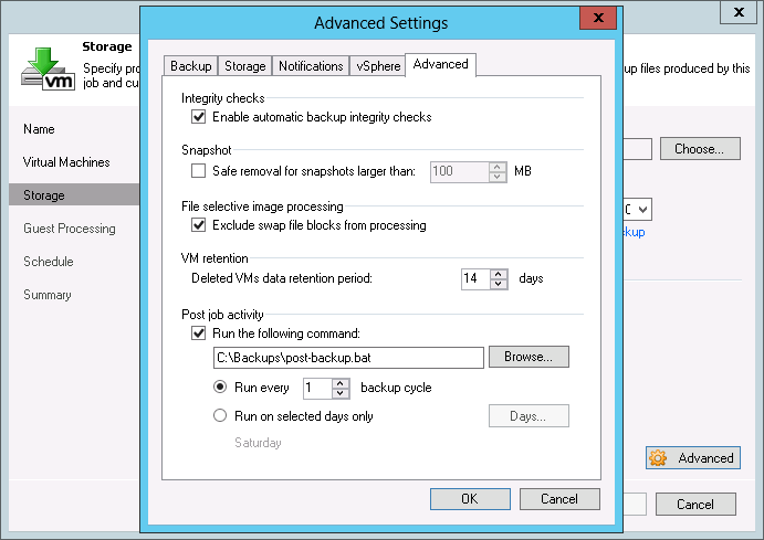 Veeam backup file is not getting smaller when removing a VM